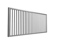 Zaun- oder Torfüllung aus tordiertem Stahl
