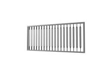 Zaun, Tor oder Geländerfüllung aus gedrehtem Flachstahl