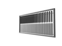 Zaun und Geländerfüllung aus tordiertem Stahl
