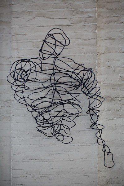 Draht Skulptur aus 5 mm Rund