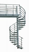 Spindeltreppe oder Wendeltreppe aus feuerverzinktem Stahl