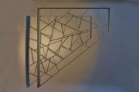 Treppen Gitter mit Schmitzstruktur in einem Flacheisenrhamen
