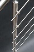 ein schönes Reling Geländer aus Edelstahl