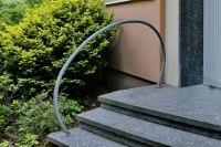 feuerverzinkter Treppenhandlauf aus Stahl