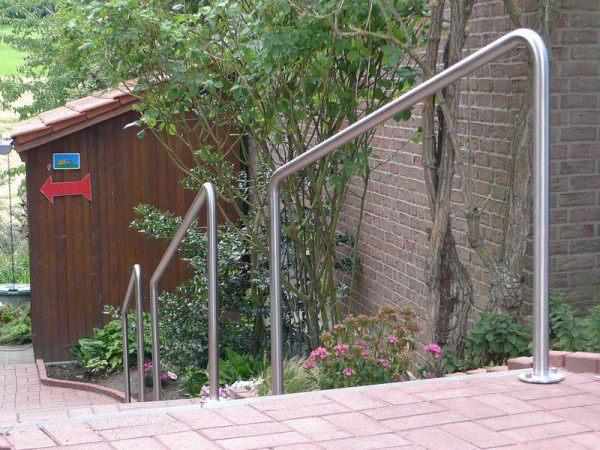 3 Stück Treppengeländer aus Edelstahl