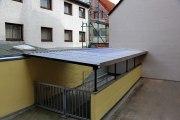 Trapezblech Dach für einen großen Kellereingang