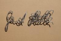 Unterschrift aus Edelstahl Draht nachgeformt