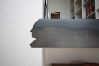 Goethe in Stahl gelasert, Verkleidung aus klar lackiertem 3mm Stahlblech