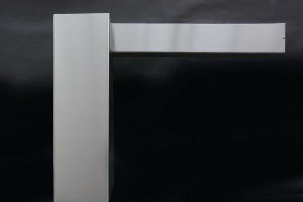 Verkleidung einer Esse aus Edelstahl