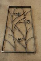 Fenstergitter mit 3 Vögeln aus Roh Stahl