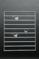 Prima Vogelgitter mit 3 Vögeln aus Flacheisen und Rundstahl