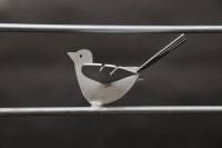 Fenstergitter mit 3 gelaserten Vögeln