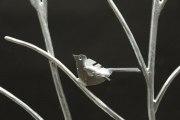 handgeschmiedetes Vogelgitter aus Stahl - feuerverzinkt