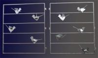 Fenstergitter mit Vögeln aus gelasertem Stahl