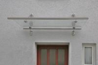 Edelstahl Vordach mit Sicherheitsglas