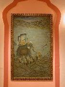 Gemäldegalerie des Maharadja in seiner Prunkhalle