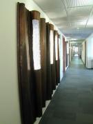 Wandgestaltung aus autogen geschweißten Kupfer