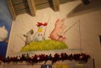 Wandmalerei in Waldemars Wundertüte, dem Shop in Mullewapp im Zoo Hannover