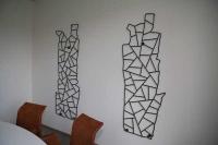 Wandskulpturen - wandhängende Kavernenskulpturen bei der SOCON SONAR CONTROL Kavernenvermessung GmbH in Emmerke aus 12mm verzundertem Rundstahl, klar lackiert