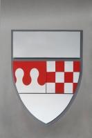Wappen aus lackiertem Metall für die Stadt Oberhausen