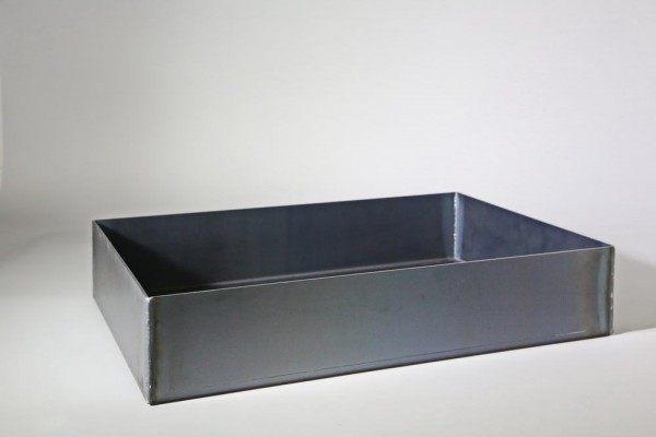 Waschbecken aus 3 mm Stahl