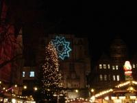Stimmungsvolle Weihnachtsbeleuchtung, Hildesheimer Weihnachtsmarkt 2006