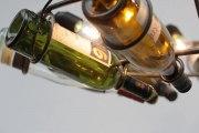 Weinflaschen Leuchter aus Rundeisen