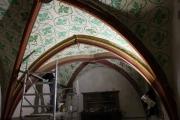 Jetzt hängt der Kronleuchter in der Nil WEIN kost BAR in Hildesheim