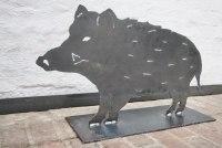Wildschwein Skulptur aus Stahl