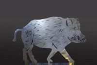 Wildschwein aus 8 mm Stahl gelasert
