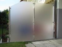 Wind-/Sichtschutz mit Edelstahlpfosten