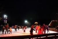wie früher - Schlittschuhlaufen auf dem Dorfteich im Meyers Hof