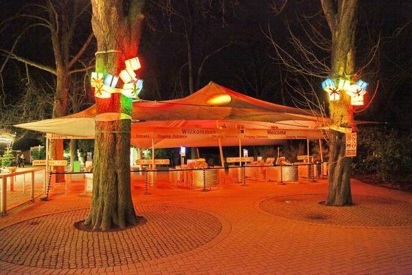 Der Eingangsbereich des Winter-Zoo