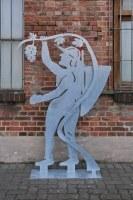 Skulptur Winzer für die Landesgartenschau Burg 2018