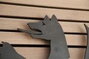 gelaserte Wölfe für den kleinen Sitzungssaal im Landlkreis Peine