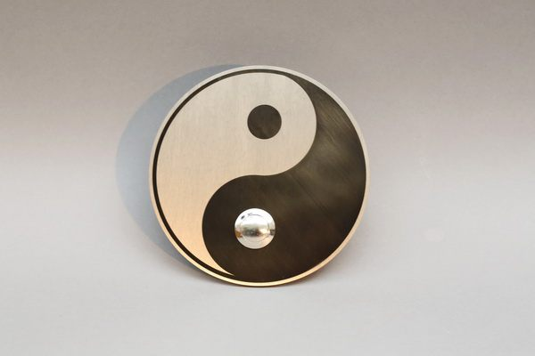 Yin Yang Klingelschild aus Edelstahl