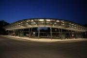 Beleuchtungsplanung für den Zentralen Omnibus Bahnhof in Haldensleben bei Dunkelheit