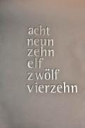 Zahlen Schrift Edelstahl