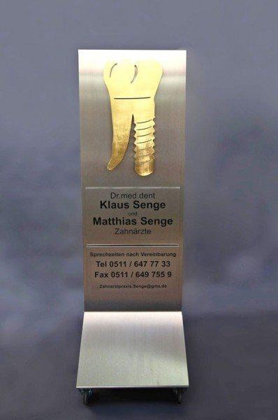 Zahnarztschild für Dr. Senge in Hannover