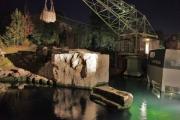 Beleuchtungsprobe im Yukon Bay im Zoo Hannover