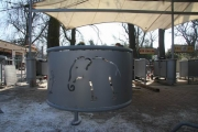 Zoo Hannover - Brüstungsgeländer mit Laserblechen für die neue Kassenanlage