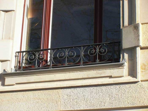 Absturzsicherung in der Schwägrischenstr. - franz. Balkon, Preis pro Meter