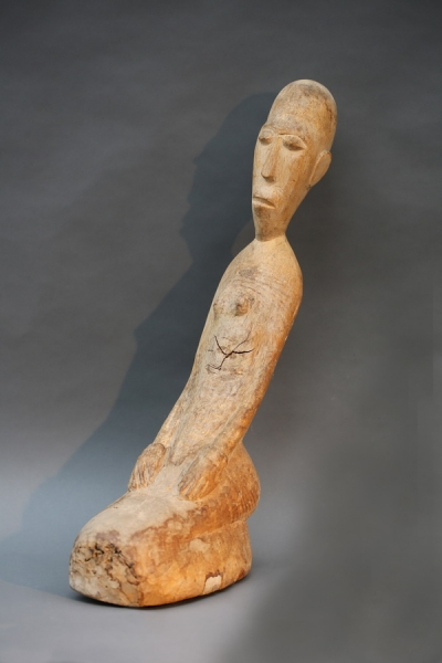 """""""Knieende"""" afrikanische Skulptur"""