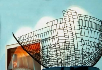 Schale aus Stahldraht