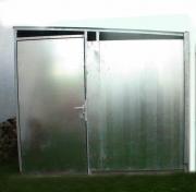 Gartenhaus aus feuerverzinktem Stahlblech