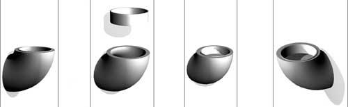 Wandascher - Aschenbecher aus Metall