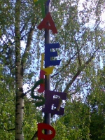 Pylon oder Stele für den Elise-Bartels Kindergarten der AWO