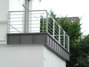 Balkongeländer - Stahl feuerverzinkt. Preis per lfm.