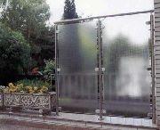 Wind- und Sichtschutz mit Glas oder Acrylglas