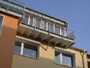 Balkon mit Balkongeländer aus Edelstahl - Edelstahlgeländer